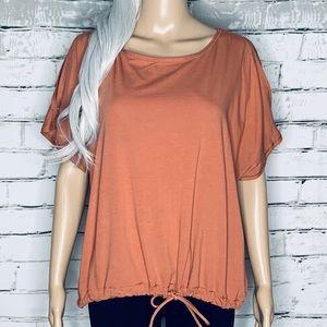 Lululemon Renew the Day Short Pima Top Orange